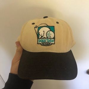 Polar Bear Open strap back hat